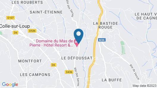 Le Domaine du Mas de Pierre Map
