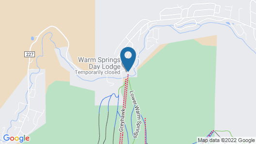 International Village in Warm Springs by Alpine Lodging Map