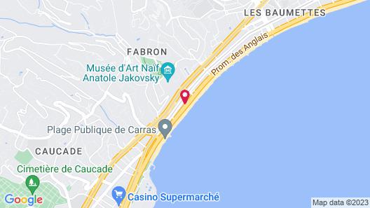 Radisson Blu Hotel, Nice Map