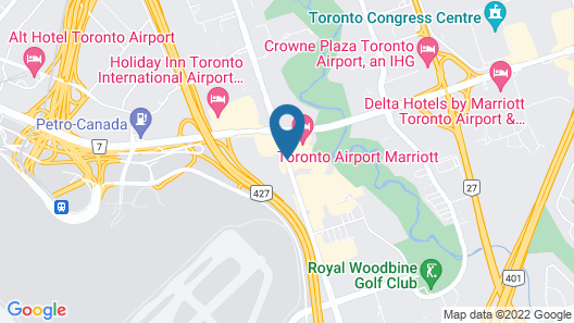 Courtyard by Marriott Toronto Airport Map