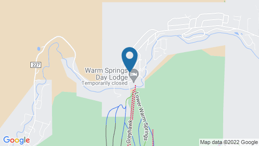 Snowrun in Warm Springs by Alpine Lodging Map
