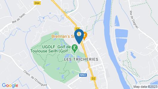 Mercure Toulouse Aeroport Golf de Seilh Map