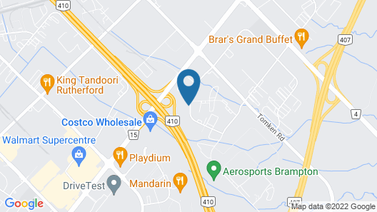 Motel 6 Brampton, ON - Toronto Map