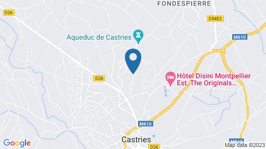 Villa Meublée Avec vue sur la Garrigue et à 20 Minutes des Plages Map