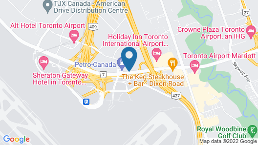 Hilton Toronto Airport Hotel & Suites Map