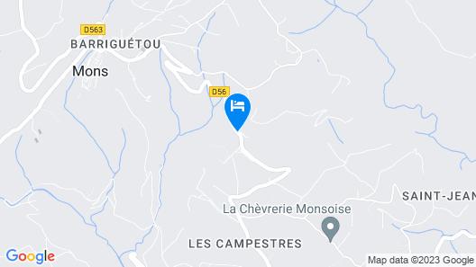 Chambre d'hotes Roubiès Map