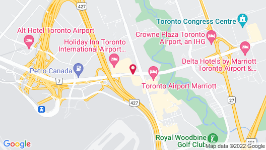 DoubleTree by Hilton Toronto Airport Map