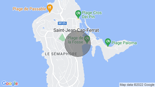 CAP Ferrat, 100 m From THE Beach AND Port, Luxury AND Comfortable Village House Map