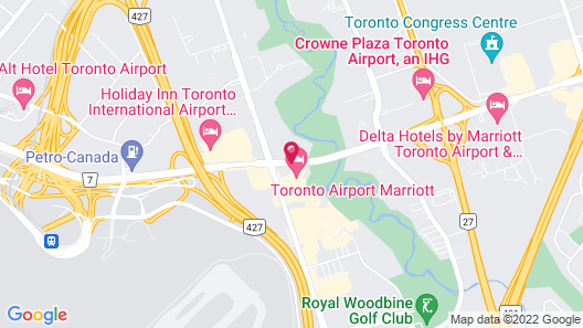 Toronto Airport Marriott Hotel Map