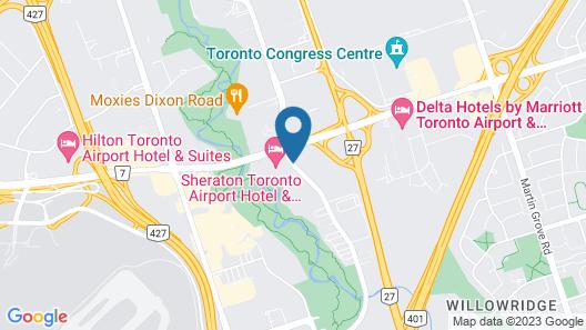 Sheraton Toronto Airport Hotel & Conference Centre Map
