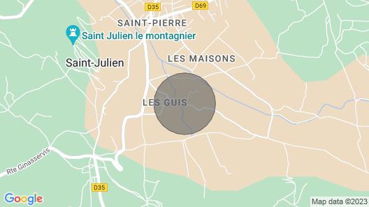 Authentic Gîte in Provence - Gorges du Verdon Map