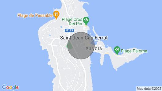 On a Magical Peninsula, Luxurious Romantic Flat, St Jean Cap Ferrat Map