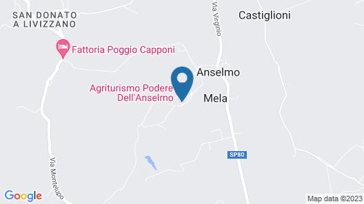 Podere dell'Anselmo Map