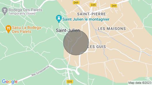2 Bedroom Accommodation in St Julien Lemontagnier Map