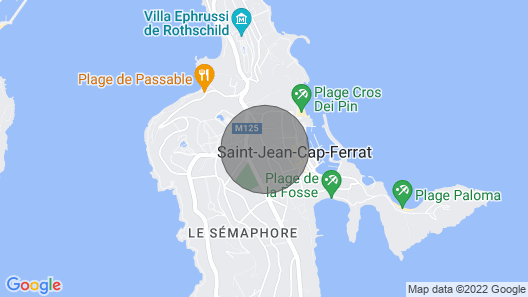 Private Villa in the Heart of St Jean Cap Ferrat Map