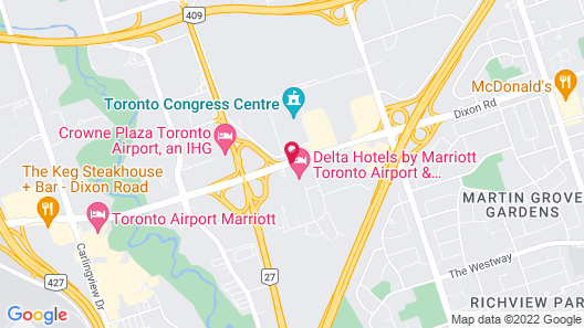 Delta Hotels by Marriott Toronto Airport & Conference Centre Map