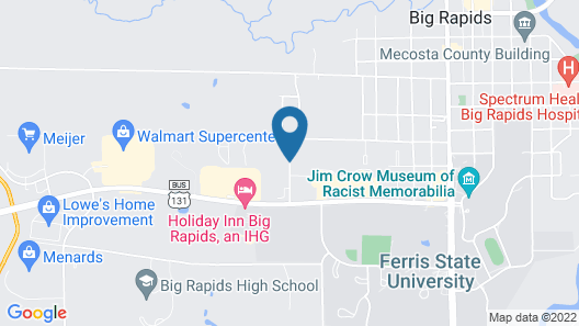 Super 8 by Wyndham Big Rapids Map