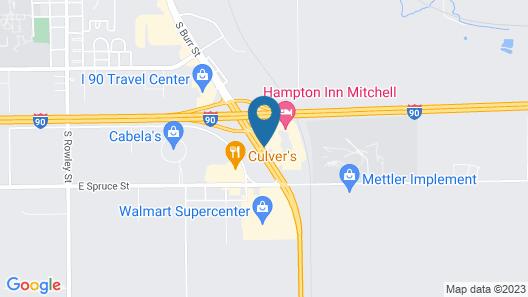 Hampton Inn Mitchell Map