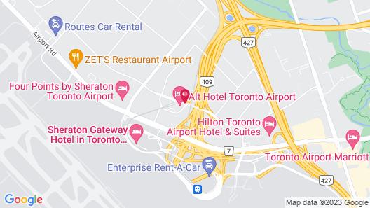 Alt Hotel Toronto Airport Map