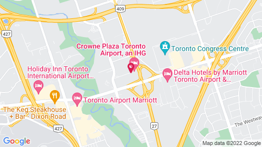 Crowne Plaza Toronto Airport, an IHG Hotel Map