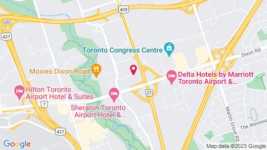 Crowne Plaza Toronto Airport Map