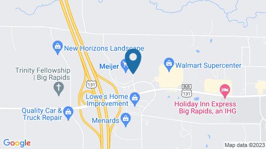 Hampton Inn Big Rapids Map
