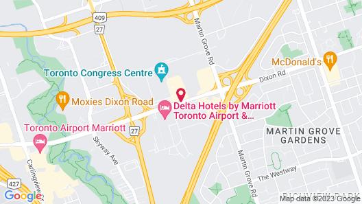 Radisson Suite Hotel - Toronto Airport Map