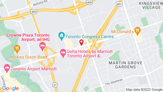 Holiday Inn Toronto Airport East Map
