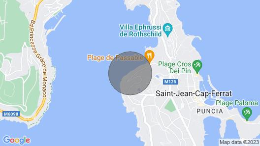 1 Bdrm apt + 100m² Private Terrace on the sea Bay of Cap Ferrat Map