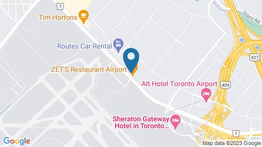 Nu Hotel Toronto Map