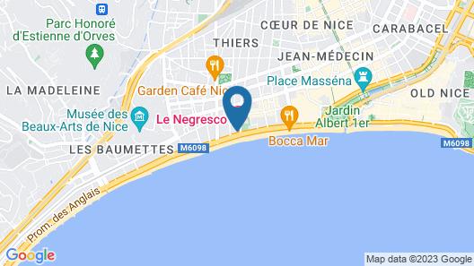 Hotel Le Negresco Map
