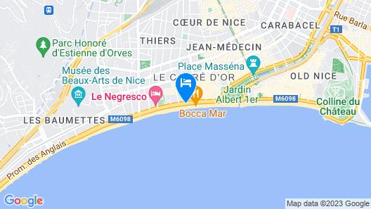 Hôtel Vacances Bleues Le Royal Map