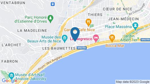 Residhome Nice Promenade Map