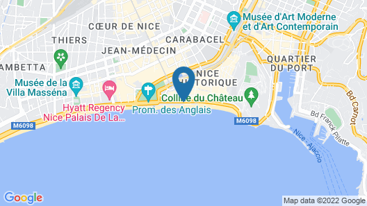 Mercure Nice Marche aux Fleurs Map