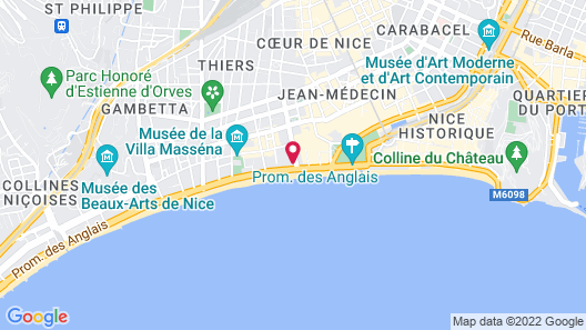 Hyatt Regency Nice Palais de la Méditerranée Map