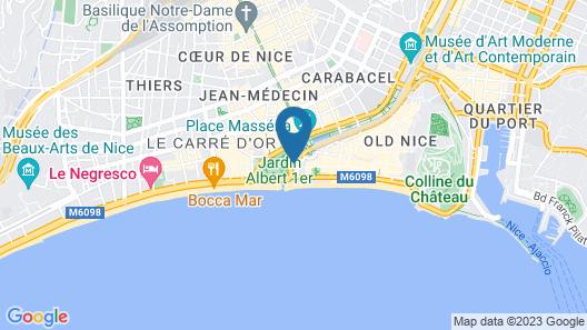 Albert 1'er Hotel Nice, France Map