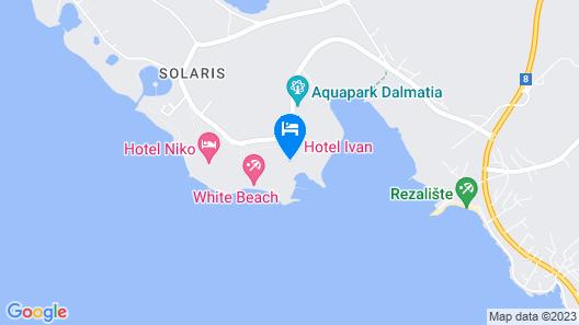 Amadria Park Hotel Ivan Map