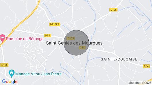 Village house St Genies des mourgues Map