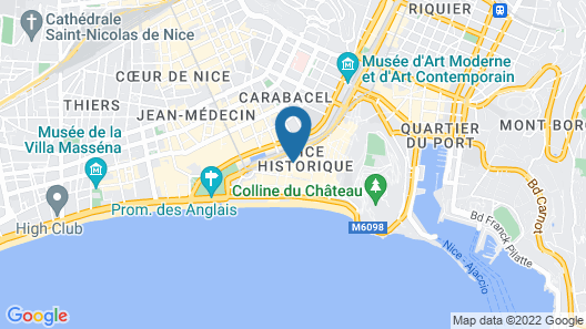 Palais Saleya Boutique Hôtel Map