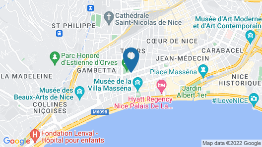Hotel Victor Hugo Map