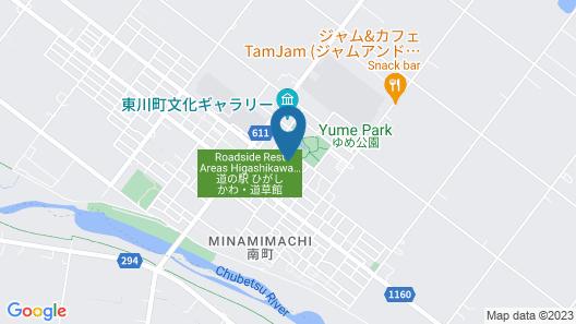 Stay in higashikawa Map