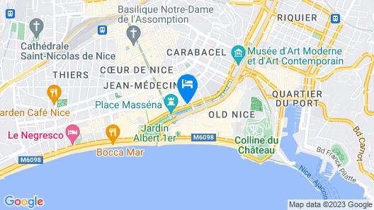 Hôtel Aston La Scala Map