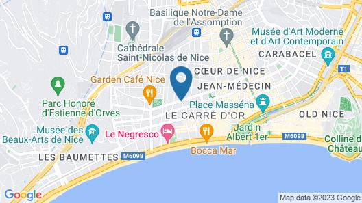 Splendid Hotel & Spa Nice Map