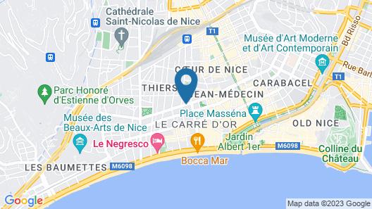 Villa Victoria Map