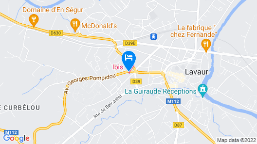 ibis Styles Toulouse Lavaur Map