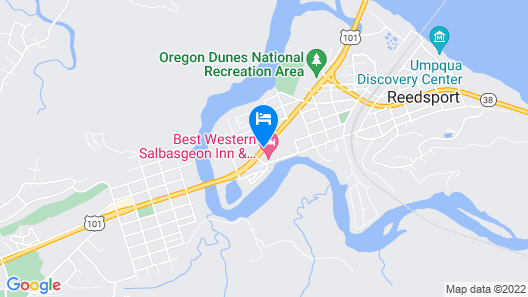 Best Western Salbasgeon Inn & Suites Of Reedsport Map