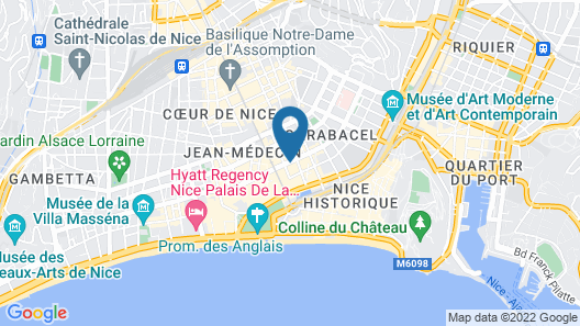 Hotel Lafayette Map