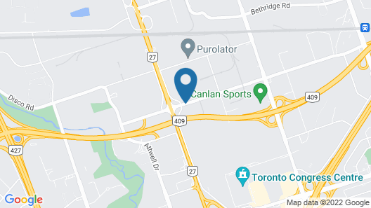Pearson Hotel and Conference Centre Toronto Airport Map