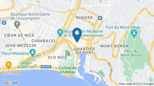 ibis Styles Nice Vieux Port Map