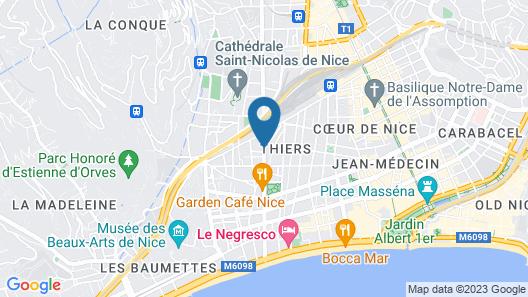 Odalys City Nice Le Palais Rossini Map